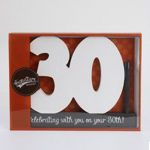 Splosh Signature Number Block - 30th Birthday