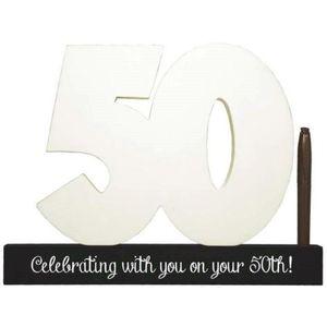 Splosh Signature Number Block - 50th Birthday