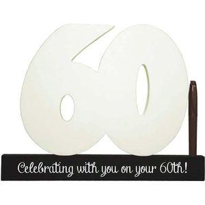 Splosh Signature Number Block - 60th Birthday