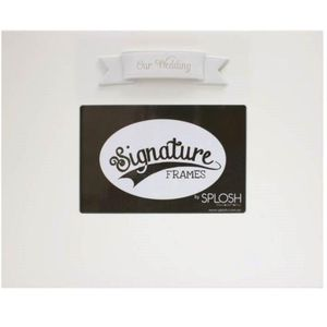 "Splosh Signature Photo Frame 6"" x 4"" - Our Wedding"