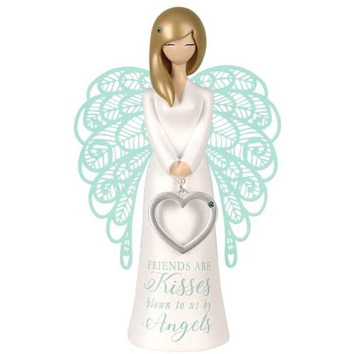 You Are An Angel Figurine - Friends Are Kisses Blown To Us By Angels AN029