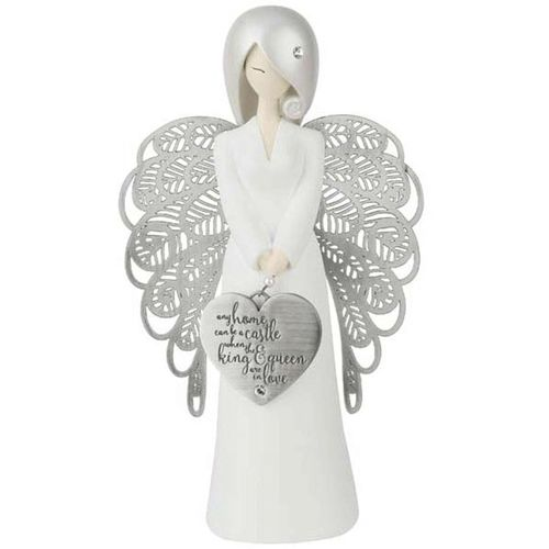 You Are An Angel Figurine - Any Home Any Home Can Be A Castle When The King and Queen Are In Love