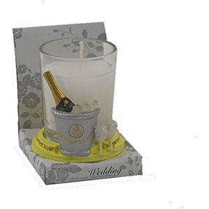 Wedding Candle Favours Pack of 12 - Champagne Bottle & Ice Bucket