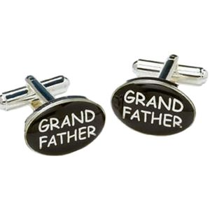 Grandfather Black & Silver Cufflinks