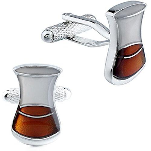 Onyx Art of London Whisky Bottle Glass & Still Cufflinks 3 Pair Gift Set