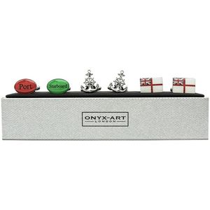 Royal Navy Cufflinks 3 Pair Gift Set