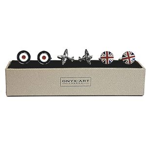 RAF Cufflinks 3 Pair Gift Set