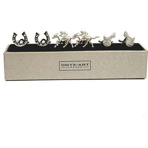 Horse Riding Cufflinks 3 Pair Gift Set