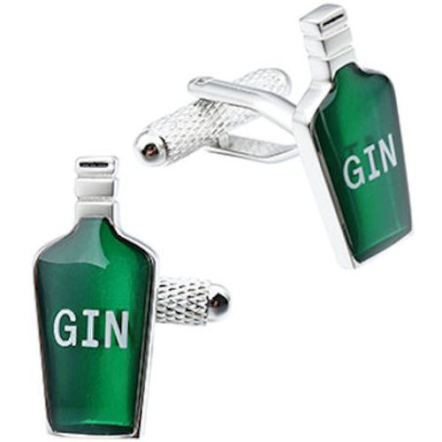 Onyx Art of London Gin Bottle Cufflinks