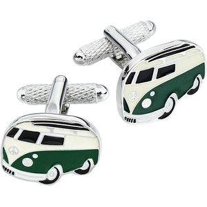 Camper Van Cufflinks - Green