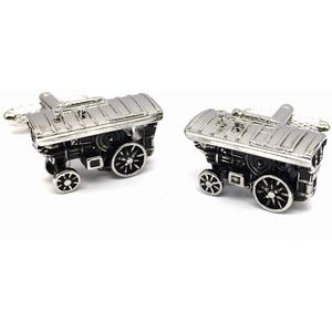 Vintage Traction Engine Cufflinks
