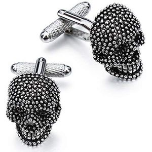Silver & Black Gothic Skull Cufflinks