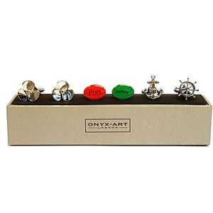 Nautical Cufflinks 3 Pair Gift Set