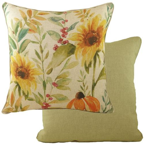 Evans Lichfield Botanics Collection Piped Filed Cushion: Sunflower 43cm
