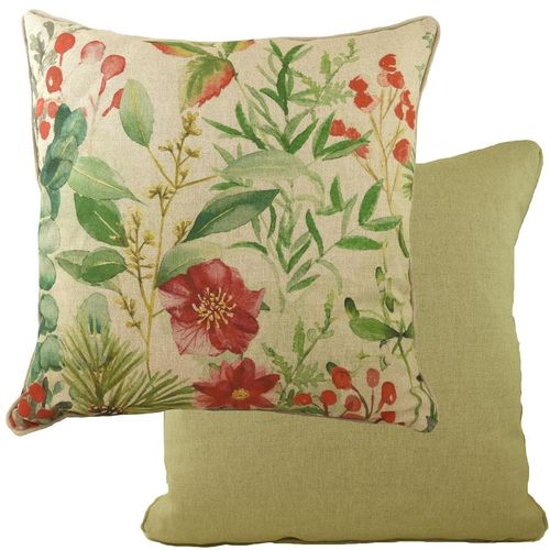 Evans Lichfield BotanicsCollection Piped Cushion Filled Winter Florals