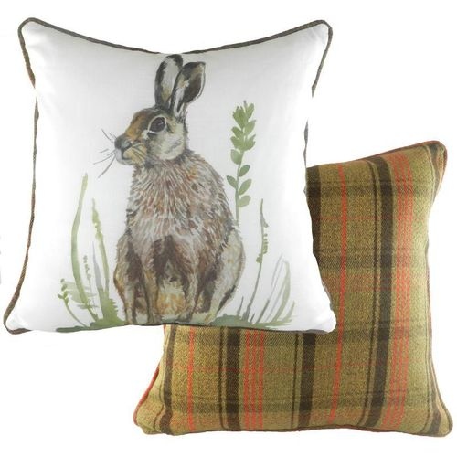 Evans Lichfield Country Collection Hunter Piped Cushion: Hare 43cm x 43cm