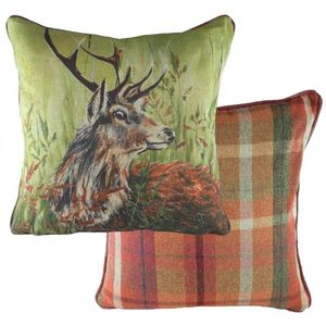 Country Manor Stag Rustic Cushion Cover