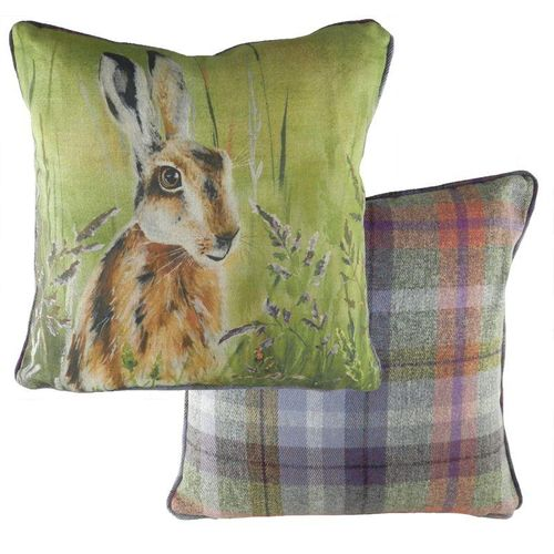 Evans Lichfield Country Manor Collection Piped Cushion: Hare 43cm x 43cm