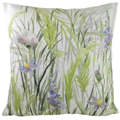 Evans Lichfield Country Manor Pampas Collection Cushion: Green 43cm x 43cm