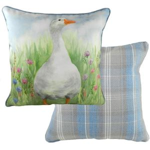 Piped Country Manor Goose Cushion Cover