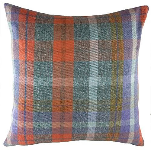 Evans Lichfield Country Manor Collection Filled Cushion: Bracken Check