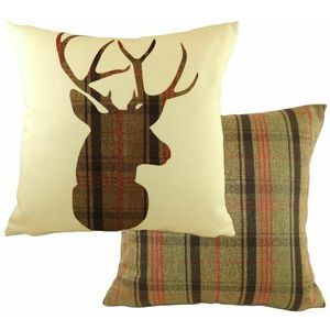 Evans Lichfield Hunter Collection Cushion Cover: Highland Stag