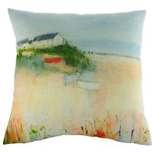 Sue Fenlon Harbour Boats Cushion