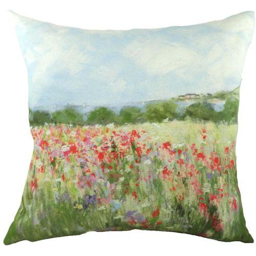 Evans Lichfield Sue Fenlon Cushion: Poppy Field 43cm