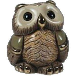De Rosa Mini Owl Figurine (Green)