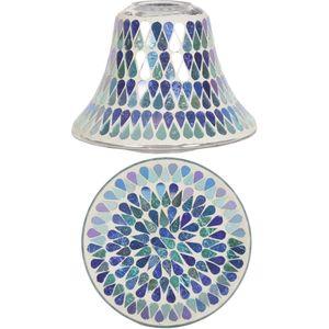 Aromatize Jar Candle Shade & Plate Set Blue Shimmer