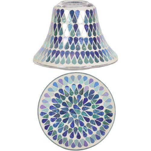 Aromatize Jar Candle Shade & Plate Gift Set: Blue Shimmer