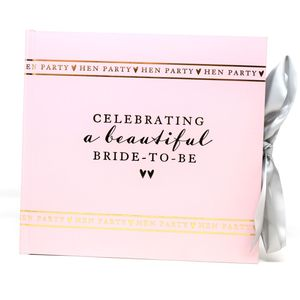 "Amore Hen Party Photo Album Holds 50 4"" x 6"" Prints - A Beautiful Bride to Be"
