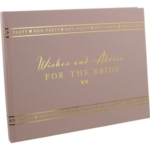 Amore Hen Party Guest Book - Wishes and Advice for the Bride