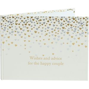 Amore Little Hearts Wedding Guest Book - 40 Pages