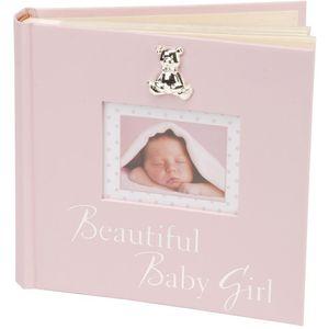 "Textured Album ""Beautiful Baby Girl"" Pink 6"" x 4"""