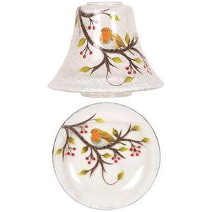 Aromatize Jar Candle Shade & Plate Set Robin