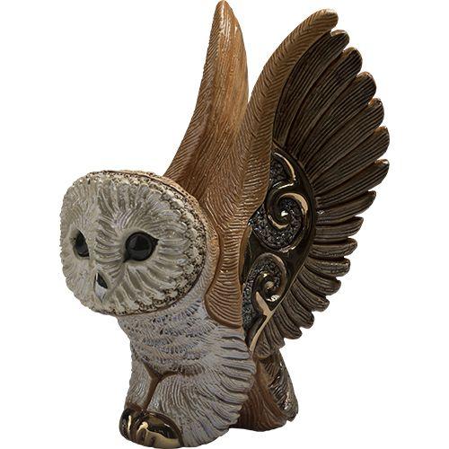 De Rosa Barn Owl Figurine F218