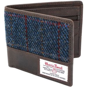 Harris Tweed Wallet Leather Trim: Allasdale