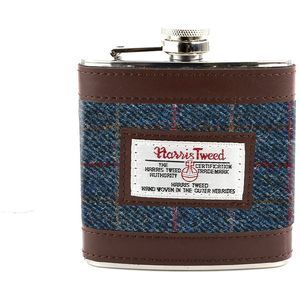 Harris Tweed Hip Flask: Allasdale