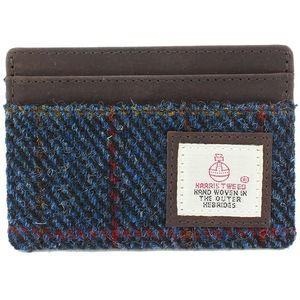 Harris Tweed Card Holder Leather Trim: Allasdale