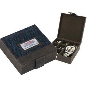 Harris Tweed Cufflinks/Watch Trinket Box: Allasdale