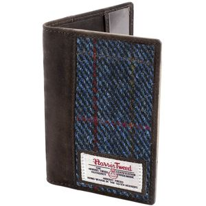 Harris Tweed Passport Holder Leather Trim: Allasdale