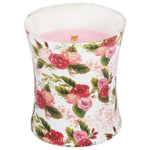 WoodWick Hourglass Jar Candle - Illustrated: Rose