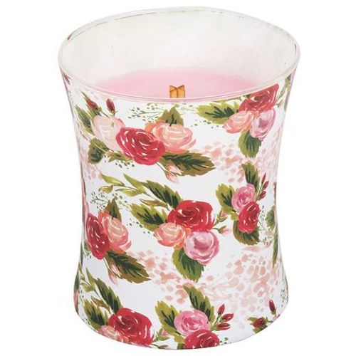 Woodwick Illustrated Hour Glass Jar Candle - Rose