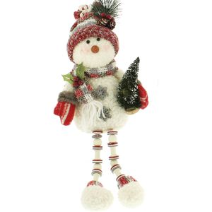 Christmas Shelf Sitter - Snowman with Tree