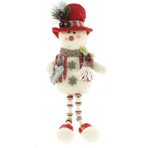 Christmas Shelf Sitter Decoration - Snowman with Sleigh