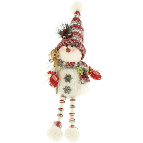 Christmas Shelf Sitter Decoration Snowman with Broom