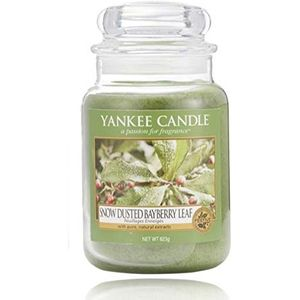 Yankee Candle Large Jar Snow Dusted Bayberry Leaf