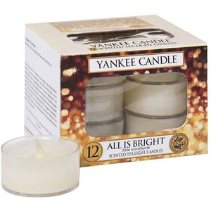 Yankee Candle Tea Lights 12 Pack - All is Bright