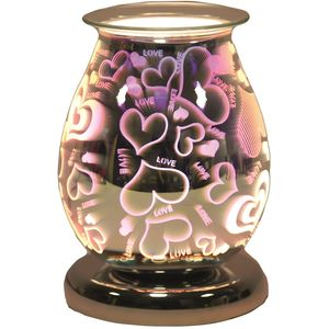 Oval 3D Wax Melt Burner - Love